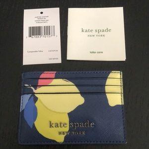 Kate Spade Cameron Lemon Zest Card Holder NWT